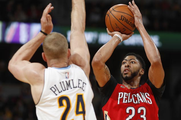 Anthony Davis carries Cousins-less Pelicans to victory over Nuggets