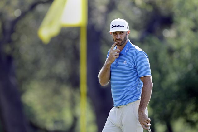 Dustin Johnson shows little rust in return from injury, four shots out of lead at Wells Fargo