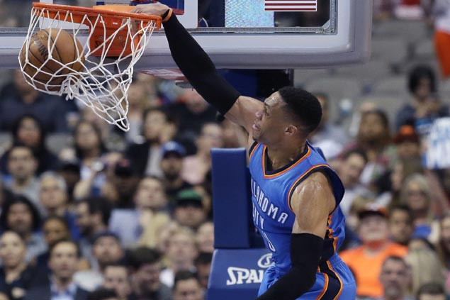 Westbrook caps 37th triple-double with game-winner as Thunder shocks Mavs with fiery rally