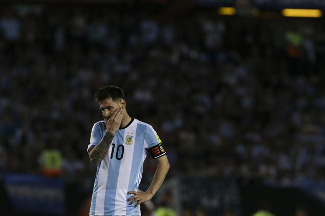 Lionel Messi banned for four World Cup qualifying games for insulting referee