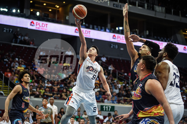 Alex Stepheson, Baser Amer deliver as unbeaten Meralco deals Rain or Shine its first loss