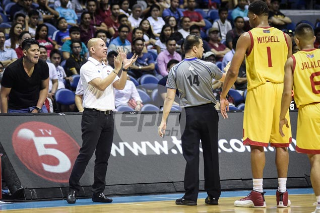 For a change, Yeng Guiao only has nice words to say to NLEX players after loss