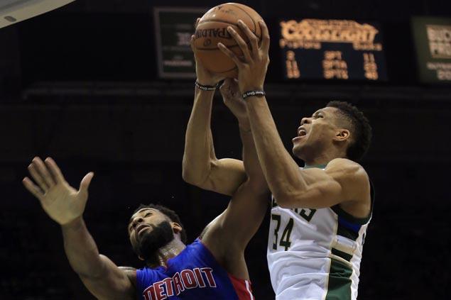 Middleton, Antetokounmpo hit the big endgame baskets as Bucks nip Pistons