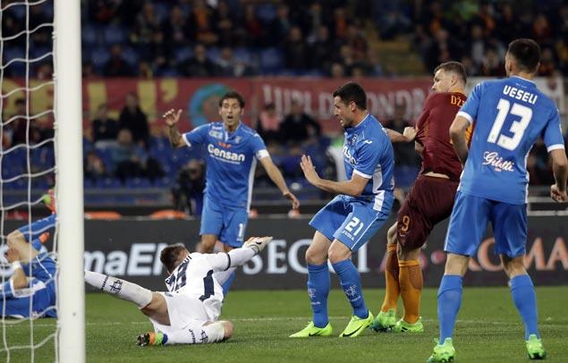 Edin Dzeko season goal tally now at 33 after scoring brace to power Roma past Empoli