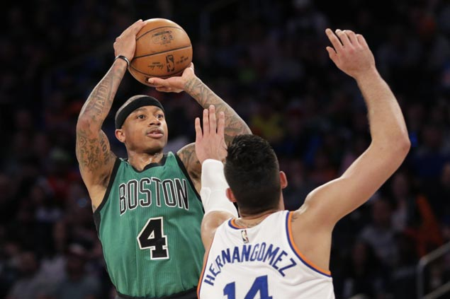 Celtics get a bit of a boost ahead of game against Cavs with easy win over Knicks