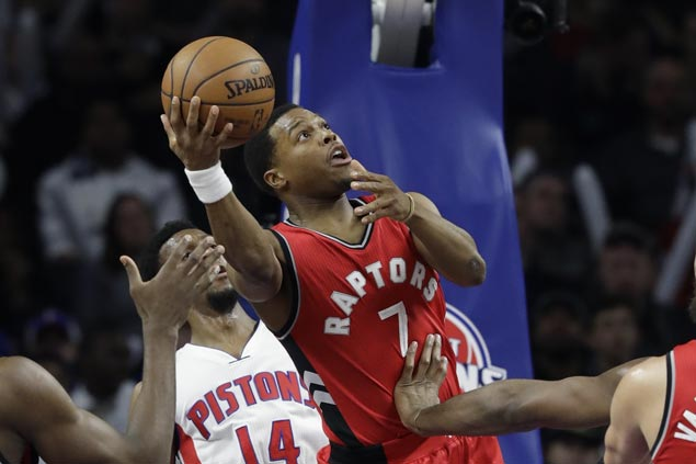 Kyle Lowry returns to help Raptors rally from 20 down to beat Pistons