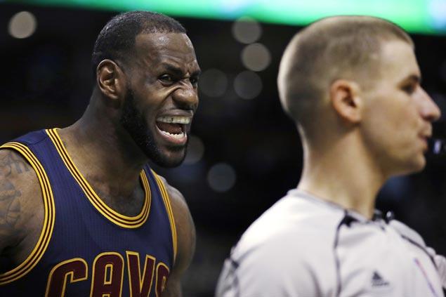 Cavaliers run over Celtics as LeBron James shifts to high gear as playoffs near