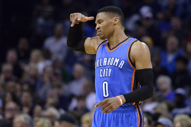Thunder nip Grizzlies as Russell Westbook scores 45, falls just short of triple-double record