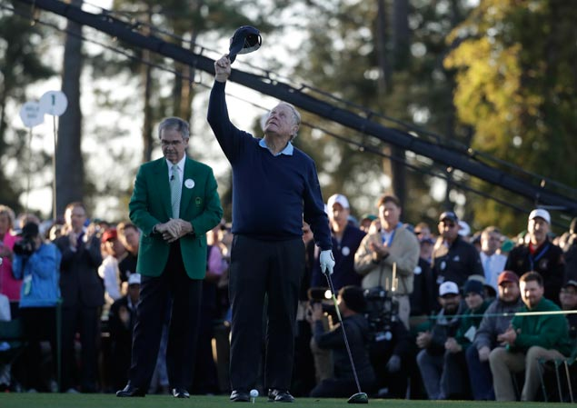 Jack Nicklaus leads emotional tribute to pal Arnold Palmer as Masters gets underway