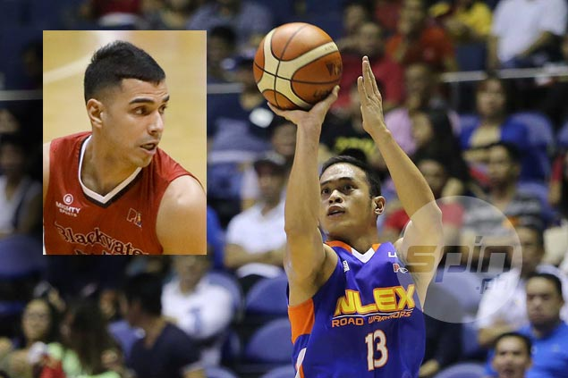 Foe to friend as Blackwater's Mike DiGregorio encourages Garvo Lanete after strong words from Guiao