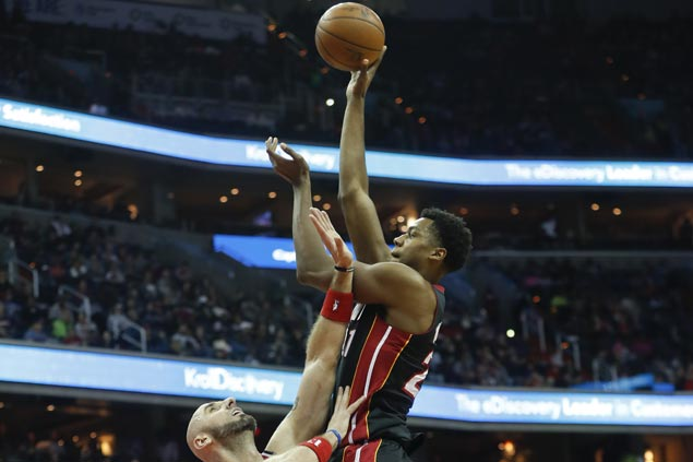 Heat bounce back and keep playoff hopes alive with victory over Wizards