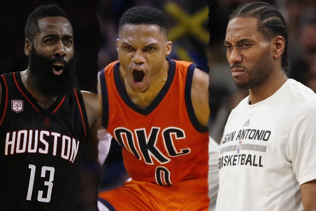 Westbrook has inside track on MVP over Harden, Leonard as NBA hands out yearend awards
