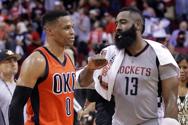 James Harden lauds Westbrook record, but says wins matter most in MVP race