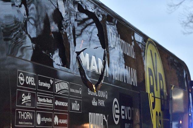 Spanish defender Marc Bartra injured as explosions hit team bus, Dortmund-Monaco match called off