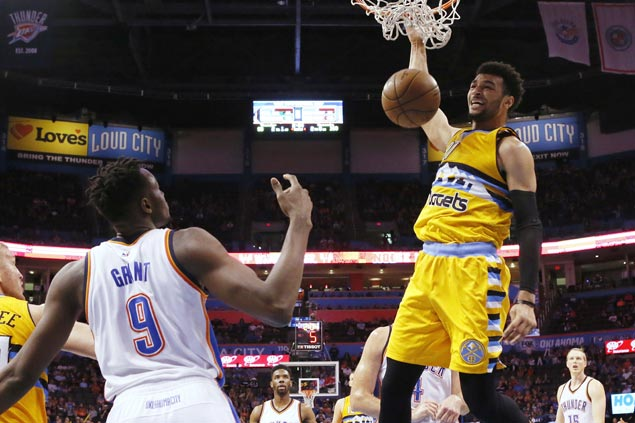 Nuggets use only seven players to beat Thunder and end campaign on winning note