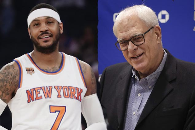Phil Jackson says Anthony 'better off somewhere else;' Melo fires back with cryptic post