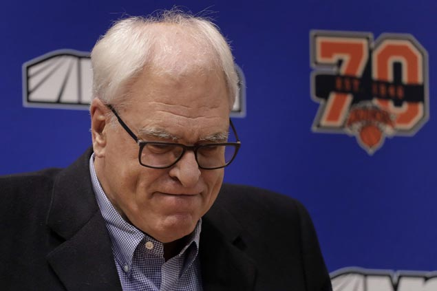 Phil Jackson out as president of New York Knicks after three tough years, according to report