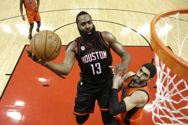 Harden shines as Westbrook misfires and Rockets rout Thunder by 31 points