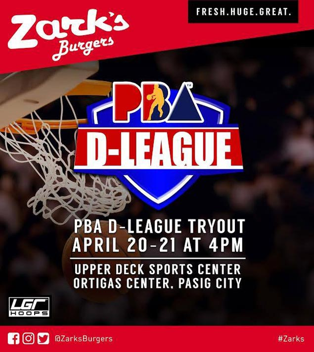 Zark's Burger holding open tryouts as it forms team for maiden PBA D-League campaign