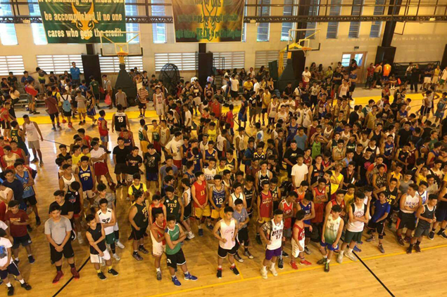 LOOK: Hundreds show up in tryouts for eight spots in FEU juniors basketball team roster
