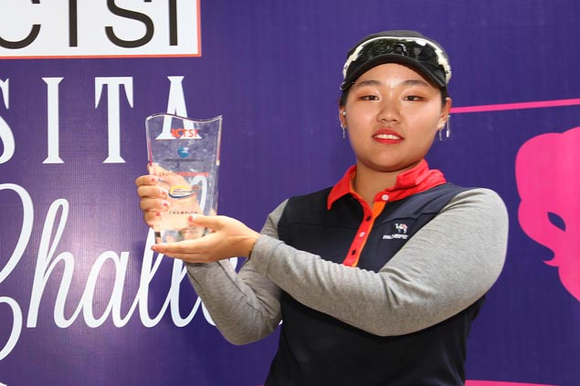 Korea's Euna Koh beats Pauline del Rosario in playoff for Luisita Ladies Challenge title