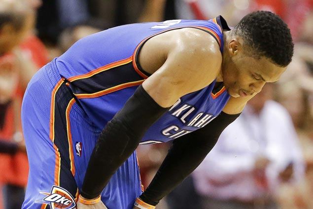 Highest-scoring triple-double in playoffs not enough as Westbrook, Thunder fall into 0-2 hole