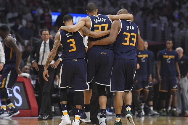 Knee injury keeps Rudy Gobert out for Game 3 as Jazz host Clippers in Utah