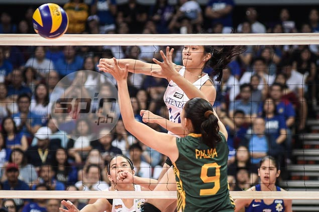 Ateneo-La Salle finale sealed as Lady Eagles survive gritty stand by FEU Lady Tams