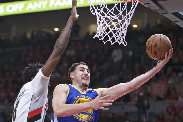 Warriors erase huge early deficit to beat Blazers and close in on sweep of first round playoff series