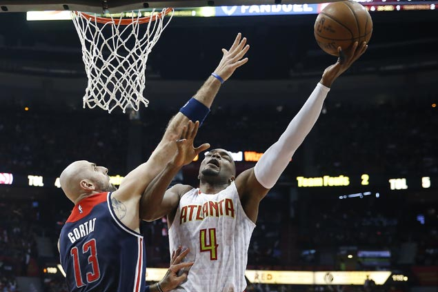 Hawks score wire-to-wire victory to trim series deficit against Wizards