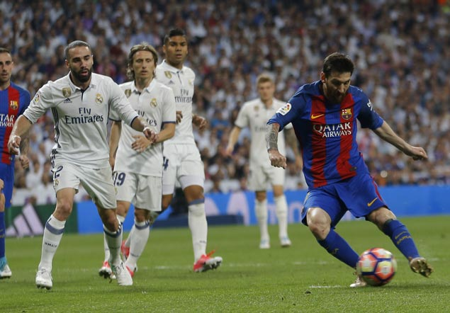 Lionel Messi scores 500th career goal for Barcelona in victory over Real Madrid