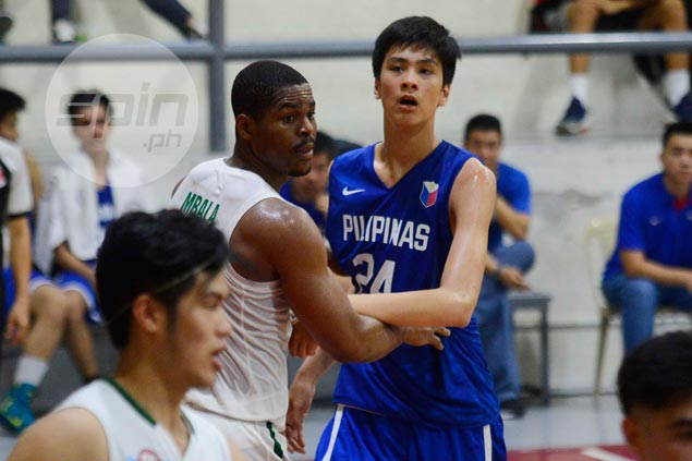Batang Gilas prospect Kai Sotto gets first taste of action vs Ben Mbala, La Salle