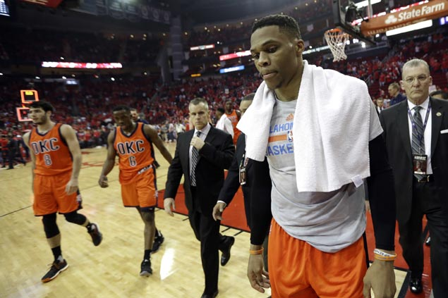 Westbrook insists OKC solid as a team, rants against 'Russell and rest of the guys' slant