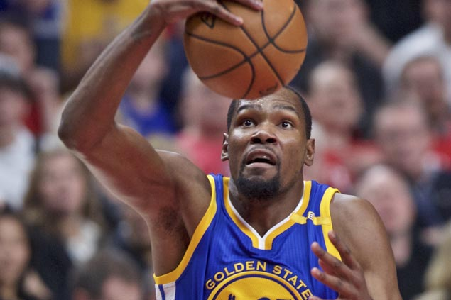 KD returns and Warriors go wire-to-wire in rout of Blazers to sweep way into conference semis