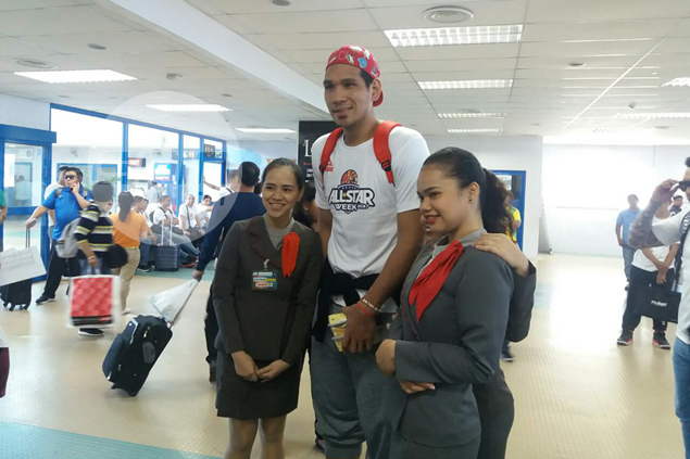 June Mar Fajardo the center of attention as he arrives in CDO for PBA All-Star Game