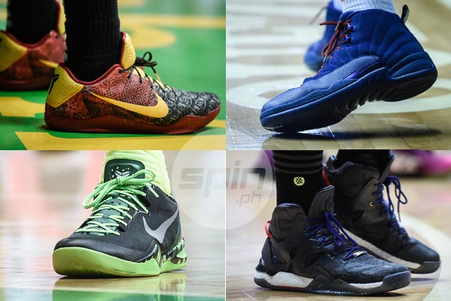 Gilas, PBA stars put best foot forward with standout sneakers in All-Star festivities