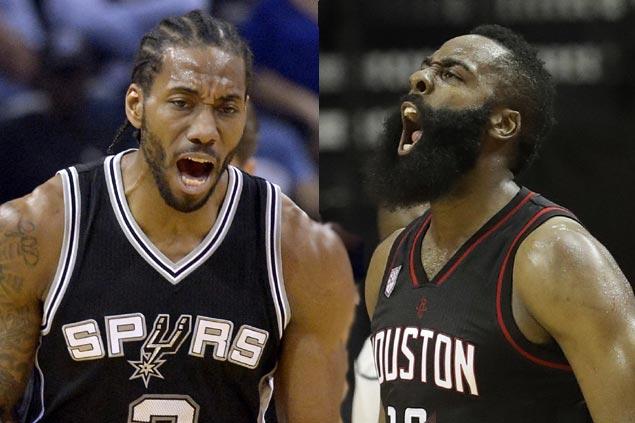 Kawhi Leonard seeks team effort in stopping James Harden as Spurs, Rockets face off