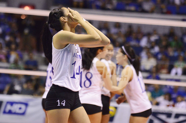 Bea de Leon stands defiant, vows Lady Eagles will emerge triumphant in Game 2