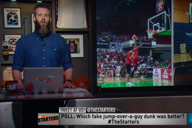 Jammer Jamito's hilarious side-step dunk makes it to NBA cable show 'The Starters'