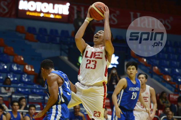 Alvin Pasaol leads way as UE Red Warriors escape with win over Ateneo Blue Eagles in wild finish
