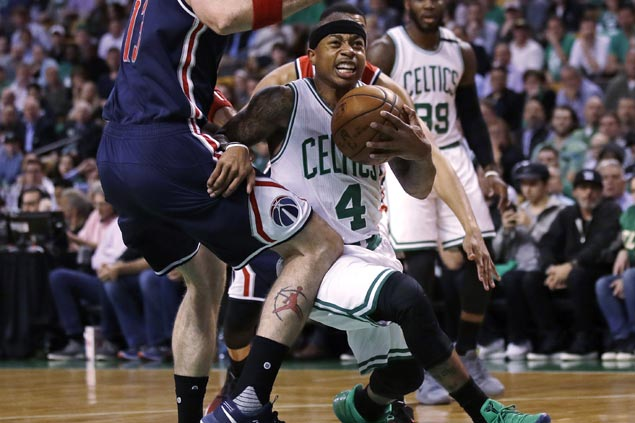 Isaiah Thomas drops 53, takes over late to give Celtics 2-0 lead after thrilling OT win vs Wizards