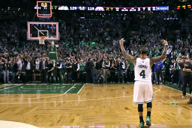 Isaiah Thomas turns emotional after epic Game 2 performance on late sister's birthday