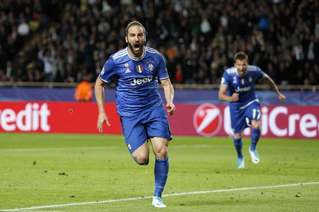Gonzalo Higuain bags brace to lift Juventus over Monaco and on verge of Champions League final