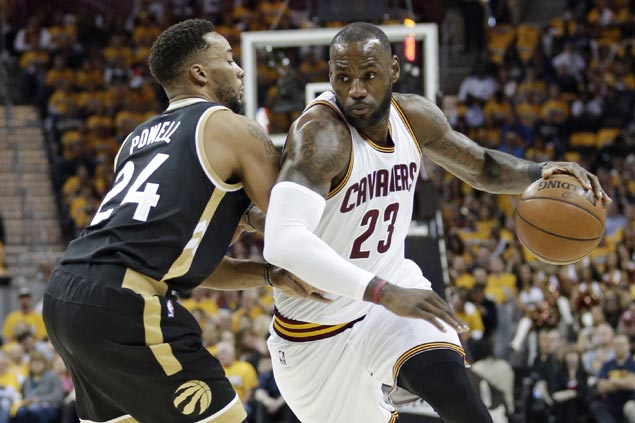 Raptors head home after 'butt whupping' as LeBron James dazzles for Cavs