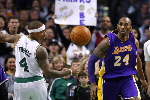 Isaiah Thomas reveals phone conversation, text exchanges with LA great Kobe Bryant