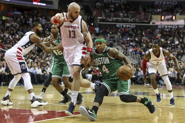 Misfiring Isaiah Thomas unfazed as Celtics-Wizards bad blood boils over in tension-filled blowout loss
