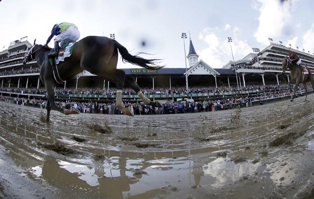 Always Dreaming splashes through the slop to win Kentucky Derby