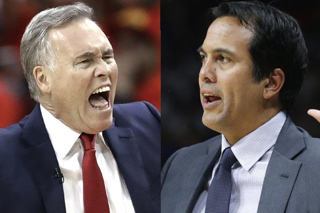 Erik Spoelstra, Mike D'Antoni share honor as co-recipients of NBCA Coach of the Year award
