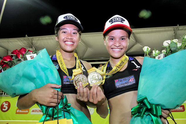 Sisi Rondina, Bernadeth Pons click instantly to rule PSL beach volleyball