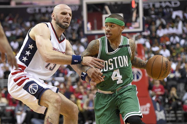 Isaiah Thomas vents ire on refs, rues physical Wizards allowed to 'grab and hold' him